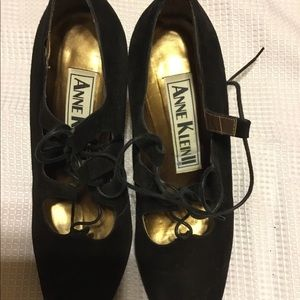 Anne Klein black lace up shoes